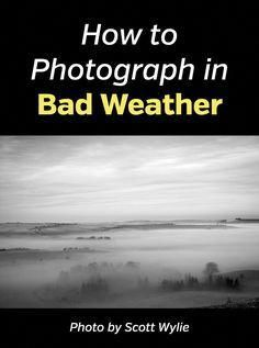 """"""""""" Tips for Photographing Storms """""""" How and What to Photograph in Bad Weather. Learn to get great photos even in windy weather, rain, fog, mist and other challenging weather conditions with these landscape and nature photography tips. Photography Hashtags, Landscape Photography Tips, Quotes About Photography, Photography Lessons, Photography Camera, Photography Backdrops, Photography Tutorials, Digital Photography, Travel Photography"""