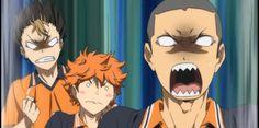 tanaka's face. Tanaka Haikyuu, Nishinoya, Haikyuu Anime, Watch Haikyuu, Baby Crows, Aesthetic Iphone Wallpaper, Me Me Me Anime, Joker, Fictional Characters