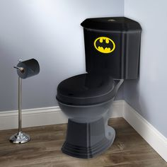 Batroom. #bathroom #design #batman #dccomics