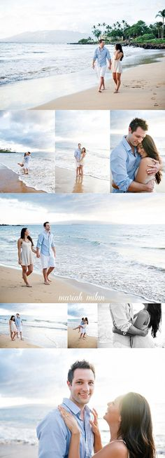 New photography wedding beach engagement session Ideas Wedding Pictures Beach, Beach Engagement Photos, Wedding Beach, Engagement Session, Wedding White, Engagements, Couples Beach Photography, Love Photography, Pre Wedding Poses