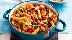 Penne with eggplant caponata for $2.05 per serve