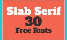 30 Tipos de Letra Slab Serif para Títulos Impresionantes (Descargar Gratis)