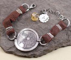 Dandelion Fine Silver Make A Wish Bracelet With Citrine by lissa73