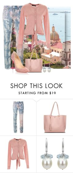 """""""Pretty in Pastel"""" by easy-dressing ❤ liked on Polyvore featuring Faith Connexion, Dolce&Gabbana, DaVonna and Christian Louboutin"""
