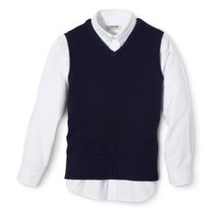 Cherokee® Toddler Boys' School Uniform Sweater Vest and Long-Sleeve Oxford Set Cherokee, Toddler Boys, Oxford, School Uniforms, Lunch Ideas, Tees, Long Sleeve, Paradise, Sweaters