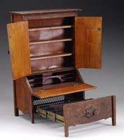 SALESMAN SAMPLE DESK/BED. Period Arts & Crafts piece.  James D. Julia, Auctioneers