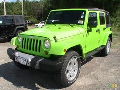 Yup Yup. Lo deseo  Gecko Green Jeep Wrangler Unlimited