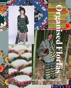 Organised Florals - Autumn/Winter Print Trend - Sophisticated floral layouts and organised border patterns reminiscent of formal garden symmetry are the inspiration behind this Autumn/Winter print trend. Now live on our site. Fashion Themes, 2020 Fashion Trends, Fashion 2020, Fashion Prints, Pattern Bank, Pattern Design, Print Design, Winter Trends, Summer Trends