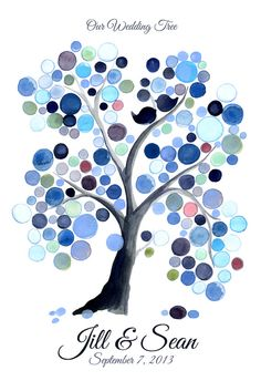 Personalized Wedding Guest Book Tree Alternative by onceuponapaper, $40.00
