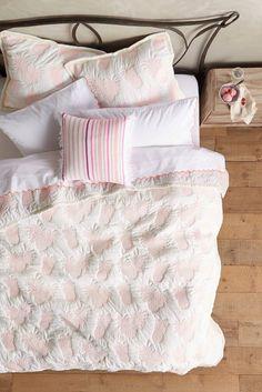 Anthropologie amina pink pineapple bedding | Beautifully Seaside