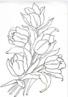 find this pin and more on puntadas con cintas tulips coloring page