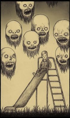 don kenn gallery Funny/Scary great combo! Monster Drawing, Monster Art, Kunst Inspo, Art Inspo, Arte Horror, Horror Art, Art And Illustration, Fantasy Kunst, Fantasy Art
