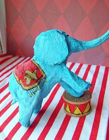 Easy Paper Mache Circus Animals · How To Make A Papier Mache Model · Other on Cut Out + Keep Circus Animal Crafts, Circus Crafts, Circus Art, Circus Theme, Paper Mache Clay, Paper Mache Crafts, Paper Clay, Projects For Kids, Art Projects