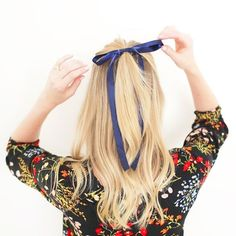 All tied up!  #bows #satinribbon #hairstyles