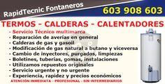 Reparación Calderas, Termos y Calentadores San Juan de Nieva