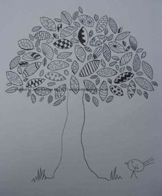 zentangle grass | Create Something Beautiful... just because you can!: Zentangle Tree...