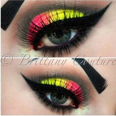 Neon Make Up ... LOVE LOVE LOVE This is a beautiful idea. Thejavawitch