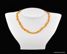 Amber Necklace - child size.  One of our best sellers.  Called a Honey Round Necklace.