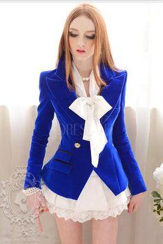 Royal Blue Vintage Slim Blazer
