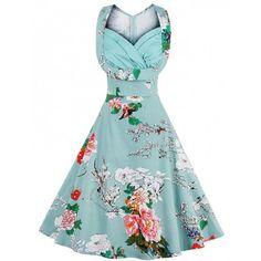 Vestido vintage primavera floral