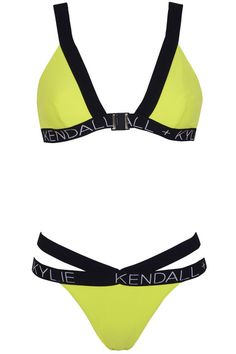f5b70f72b754e 10 Kylie and Kendall Jenner swimsuits from their Topshop collection  Black  and yellow bikini Kendall