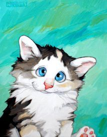 Deborah's by Georg Williams Silly Cats, Cats And Kittens, I Love Cats, Crazy Cats, Gatos Cats, Photo Chat, Cat Colors, Cat Drawing, Dog Art