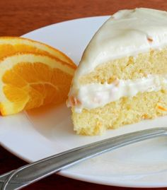 Orange Buttermilk Cake with Orange Cream Cheese Frosting Recipe