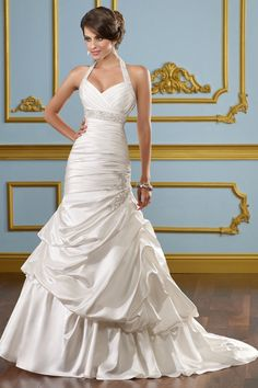 Mermaid Halter Wedding Gown with Sophisticated Appliqués. This is seriously my dream dress... omg so in love