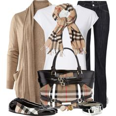 Burberry World Contest #1 by angkclaxton on Polyvore featuring H&M, Witchery, 7 For All Mankind, Burberry, Nine West and American Apparel