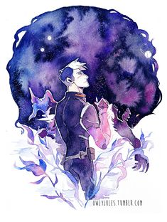 Shiro of the Black Lion from Voltron Legendary Defender
