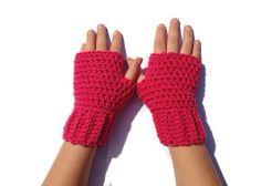 Childrens fingerless glovescrochet by Christinescraftbox on Etsy