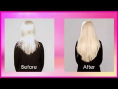 How to use 2 halo hair extensions for ultimate volume. Stacking your 16 inch and 20 inch Halo Crown Hair Extensions - YouTube