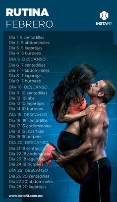 Rutina de ejercicio para febrero. #february #workout