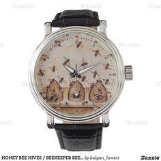 HONEY BEE HIVES / BEEKEEPER BEEKEEPING WRISTWATCH