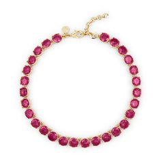 50 Shades of Pink - Round Stone Bling Necklace #jewelry #style