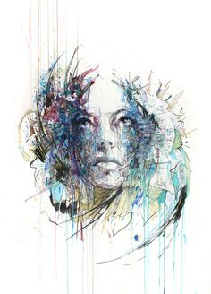 Carne Griffiths - artist painting with ink, tea and alcohol