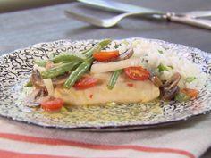 Lemon Citrus Cod with Vegetables Recipe : Ted Allen : Food Network - FoodNetwork.com