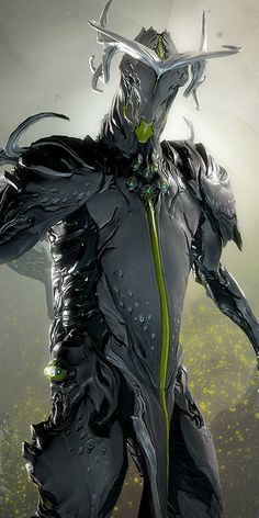 Oberon ~ He may not be the best, but he's definitely one of my favorites. Oberon Warframe, Unicorn Fantasy, Sci Fi Fantasy, Warframe Characters, Cyberpunk, Futuristic Robot, Alien Character, Rpg, Dark Art