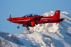 https://flic.kr/p/S1Cedr | Pilatus PC-9, A-105, Swiss Air Force | Sion, Canton of Valais, Switzerland