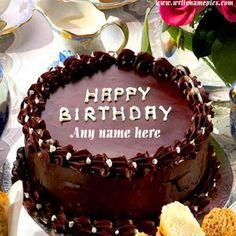 Pin By Mynameonpics On Happy Birthday Chocolate Cake With Name