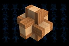 Bamboo Puzzle Knotty Wooden Toy - SOLIDWORKS,STL,STEP / IGES,Parasolid - 3D CAD model - GrabCAD