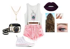 """""""Starbucks babe"""" by jj-haddad on Polyvore featuring Converse, Betsey Johnson and Lime Crime"""