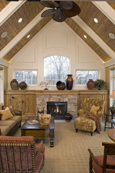 Traditional/rustic/modern country living room