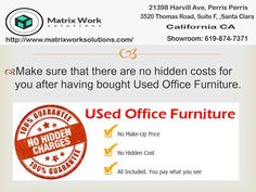 We sale used office chairs,used cubicle at reasonable price.there are no any hidden charges. Used Office Chairs, Used Office Furniture, Used Cubicles, California Ca