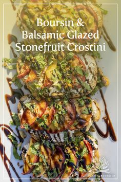 This colorful summer appetizer is easy to make and guaranteed to impress at your outdoor gathering. With fresh, seasonal fruit, tangy balsamic and a spread of creamy, crumbly Boursin, you'll want to make it all season long. Get the full recipe at boursin.com. #glampboursin Potato Basket, Grill Stone, Campfire Desserts, Boursin Cheese, Cheese Stuffed Peppers, Balsamic Reduction, Ripe Peach, Grilled Peaches, Balsamic Glaze