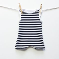 Retro Black and White Striped Baby Swimsuit | Baby Boy Swimwear | Infant One Piece Swimsuit | Boy Swimwear Swimming Suit Swim Trunks Beach