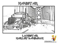These Are Your Cool Truck Coloring Pages Of 18 Wheeler