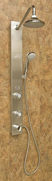 Aloha Single Handle Showerpanel with 2 Body Sprays and Rain Style Shower Head Shower Jets, Cold Shower, Shower Hose, Shower Valve, Shower Arm, Rain Shower System, Shower Systems, Master Bath Remodel, Master Bathroom