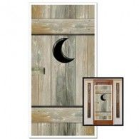 Create a fun western atmosphere at your cowboy and western party with this plastic Outhouse Door Cover. This is the perfect way to decorate bathroom doors. Your guests will get a big laugh out of this door cover!Size: x plastic Indoor and outdoor use Outhouse Bathroom Decor, Lodge Bathroom, Bathroom Doors, Bathroom Wallpaper, Bathroom Ideas, Bathrooms, Western Party Supplies, White Trash Party, Redneck Party