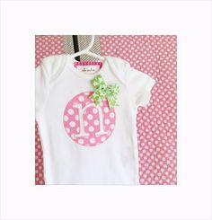 Personalized Baby Bodysuit Boy or Girl White with Initial Applique Baby Gift Spring Summer Baby Shower Gift Photo Prop